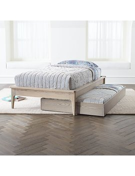 Wrightwood Grey Stain Trundle Bed by The Land Of Nod