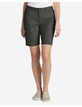"Women's Legend Wash Stretch Shorts   Curvy Fit, 10"" by Eddie Bauer"