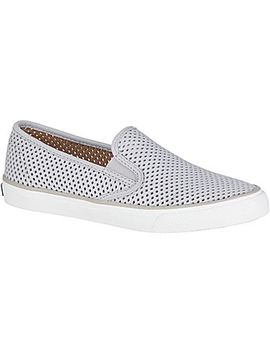Women's Seaside Perforated Sneaker by Sperry