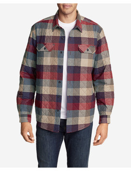 Men's Eddie's Favorite Flannel Quilted Shirt Jacket by Eddie Bauer