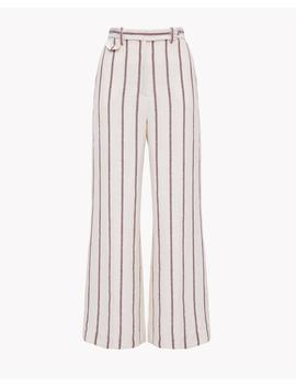 Striped Linen Culotte by Theory