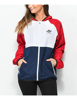 adidas-mi-skate-red,-white-&-blue-windbreaker-jacket by adidas