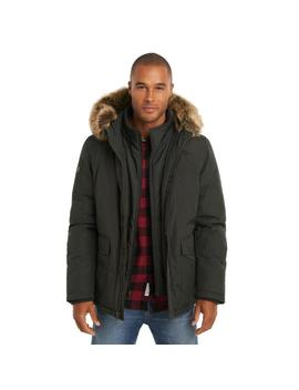 Long Hooded Parka With Faux Fur Trim by G.H.Bass & Co.