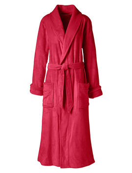 Women's Plush Fleece Robe by Lands' End