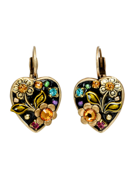 Midnight Garden Heart Earrings by Michal Golan Jewelry