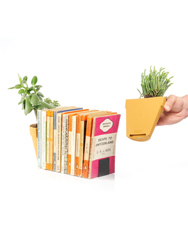 Plant Pot Bookends by Suck Uk