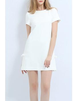 Bowknot Side Slit Mini Dress by Weiguoyue