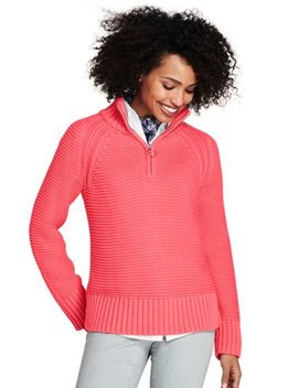 Women's Drifter Half Zip Mock Neck Sweater by Lands' End