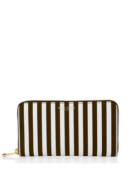 Centennial Stripe Zip Around Continental Pocket Wallet Centennial Stripe Zip Around Continental Pocket Wallet by Henri Bendel