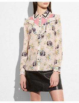 Western Lace Blouse by Coach
