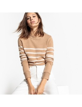 Gestreifter Pullover, Wollanteil by La Redoute Collections