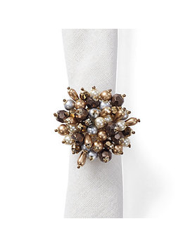 Jewel Cluster Napkin Ring   Set Of 4 by Z Gallerie