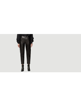 Leather Zip Up Trouser by Frame