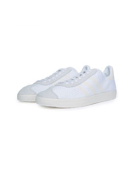 The Gazelle Primeknit In White by Adidas