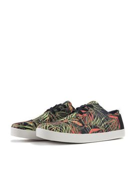 The Paseo Multi Canvas Palm Print Sneakers In Olive/Orange by Toms Shoes