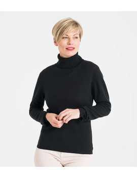Womens Cashmere And Merino Fitted Turtle Neck Knitted Sweater by Wool Overs