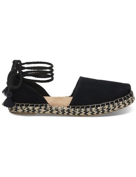 Black Suede Women's Katalina Espadrilles by Toms