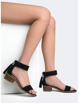 Low Ankle Strap Heel by Zooshoo