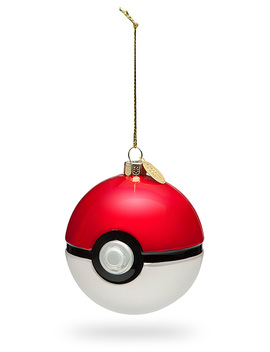 Poké Ball Glass Ornament Set by Think Geek