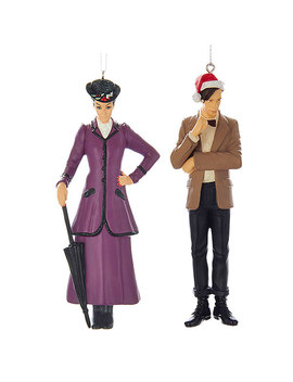 The Master And 11th Doctor Ornaments 2 Pack by Think Geek