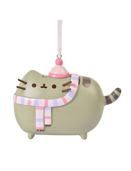 Pusheen Ornament Pink Hat And Scarf by Think Geek