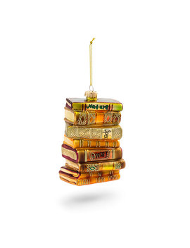 stack-of-books-ornament by think-geek