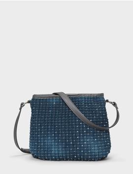 Studded Denim Crossbody Bag by Dressbarn