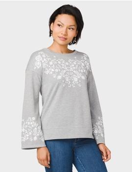 Flared Sleeve Sweatshirt by Dressbarn