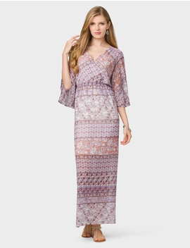 Chiffon Mixed Print Maxi Dress by Dressbarn
