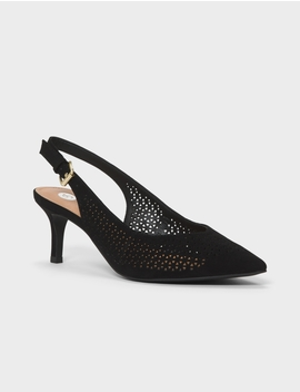 Holly Perforated Slingback Heel by Dressbarn