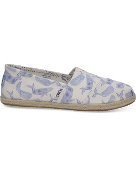 Oceana Watercolor Whale Women's Classics by Toms