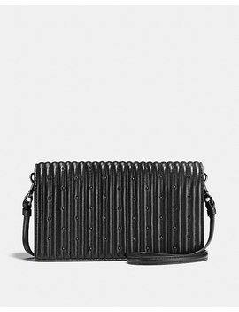 Foldover Crossbody Clutch With Quilting And Rivets by Coach