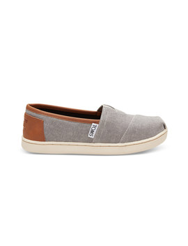 Frost Grey Chambray Youth Classics by Toms