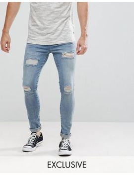 brooklyn-supply-co-muscle-fit-jeans-tint-wash-rip-&-repair by brooklyn-supply-co