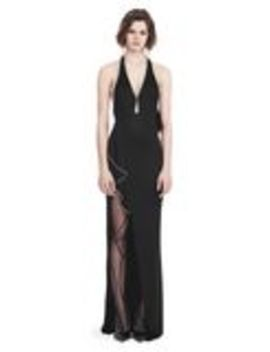 Gown With Asymmetric Ball Chain Flounce by Alexander Wang