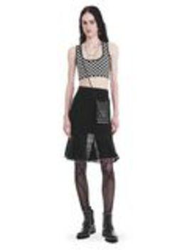 Knee Length Skirt With Ruffled Ball Chain Hem by Alexander Wang
