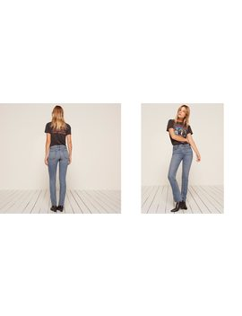 Petites Brooke High Straight Jean by Reformation