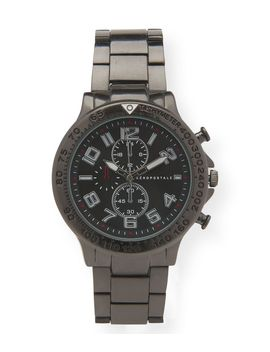 Metal Round Chrono Analog Watch by Aeropostale