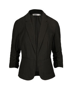 Microtwill Ruched Blazer by Ricki's