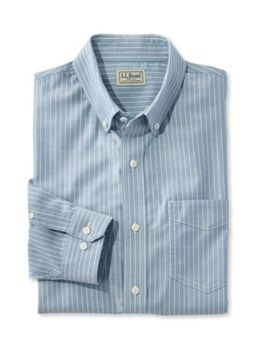 Easy Care Chambray Shirt, Traditional Fit Stripe by L.L.Bean