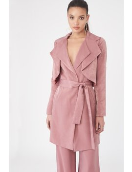 Double Layer Satin Trench Coat by Lavish Alice