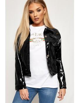 Natalia High Shine Vinyl Biker Jacket by Wear All