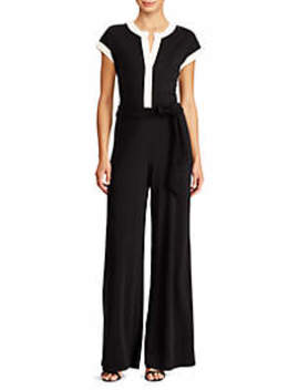 Two Tone Jersey Jumpsuit by Lauren Ralph Lauren