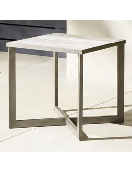 Faux Bois Side Table by Crate&Barrel