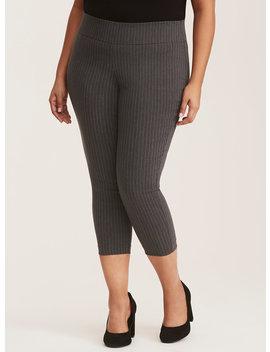 Grey Pinstripe Pixie Pant by Torrid