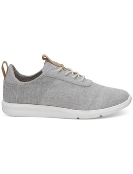 Drizzle Grey Chambray Mix Women's Cabrillo Sneakers by Toms