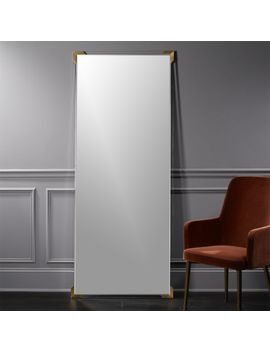 "Demi Acrylic Floor Mirror 31.5""X75.5"". by Crate&Barrel"