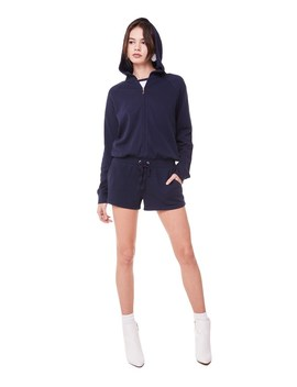 French Terry Regal Crest Long Sleeve Romper by Juicy Couture