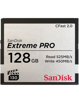 128 Gb Extreme Pro C Fast 2.0 Memory Card by San Disk