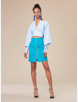 Keyhole Cropped Blouse by Dvf